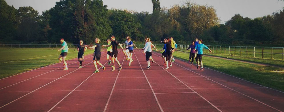 West 4 Harriers Track Session.